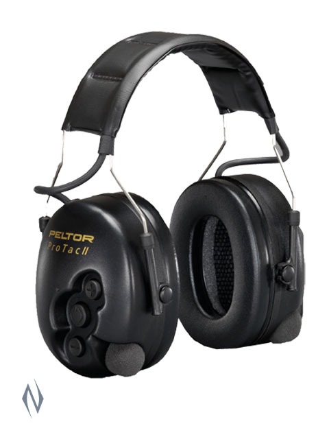 PELTOR PRO-TAC II BLACK ELECTRONIC MUFFS REFER CODE: MT13H221A Image
