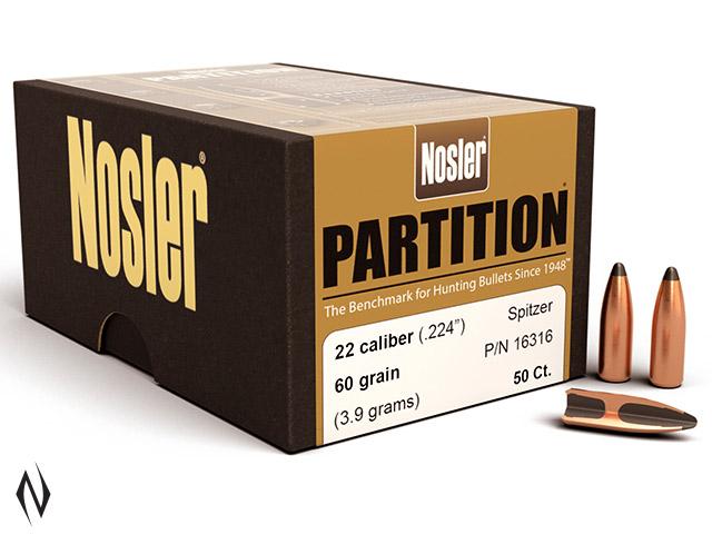NOSLER 224 60GR PARTITION 50PK Image