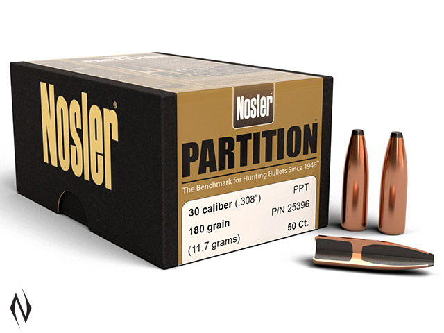 NOSLER 308 180GR PARTITION PROTECTED 50PK Image