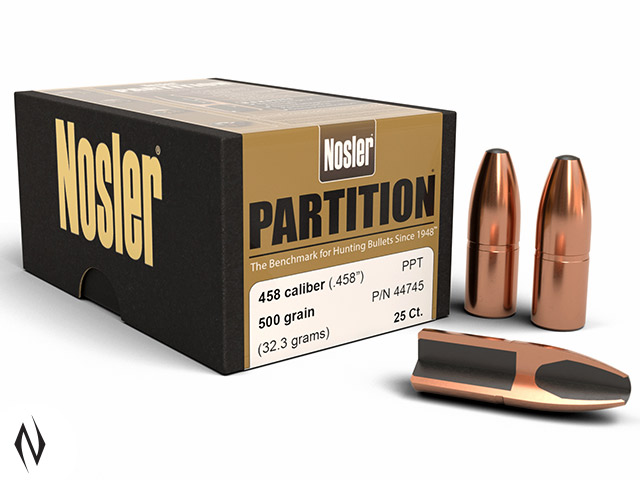 NOSLER 458 500GR SP PARTITION 25PK Image