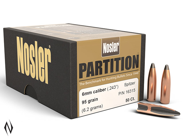 NOSLER 6MM 95GR SP PARTITION 50PK Image