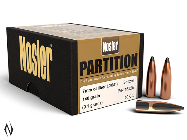 NOSLER 7MM 140GR SP PARTITION 50PK Image