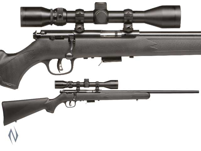 SAVAGE 93 R17 17 HMR F BLUED SYNTHETIC PACKAGE Image