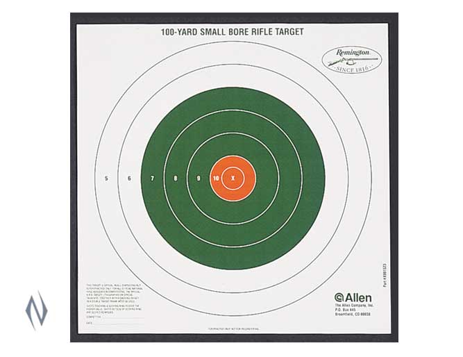 ALLEN REMINGTON BULLSEYE 100 YARD SIGHT IN TARGET 12PK Image