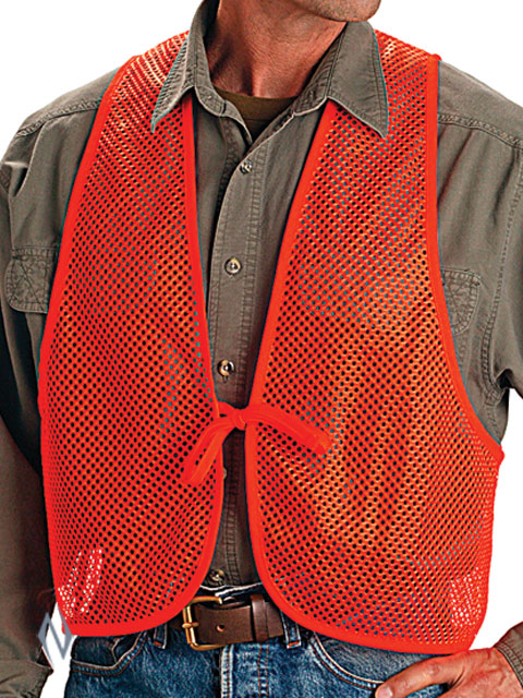 ALLEN BLAZE ORANGE MESH HUNTERS SAFETY VEST Image