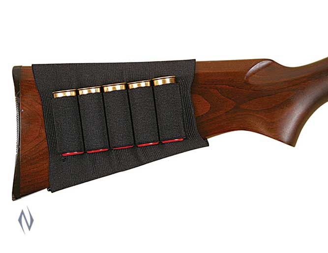 ALLEN SHOTGUN BUTT STOCK SHELL HOLDER BLACK 5 RND Image