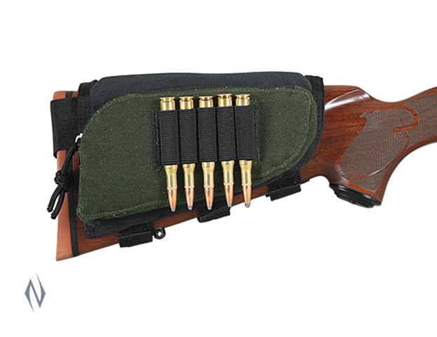 ALLEN BUTT STOCK RIFLE SHELL HOLDER VELCRO W/ZIP POCKET Image