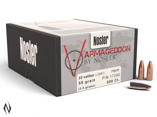 NOSLER 224 55GR HP VARMAGEDDON 500PK Image