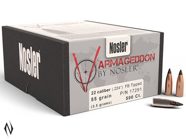 NOSLER 224 55GR TIP VARMAGEDDON 500PK Image