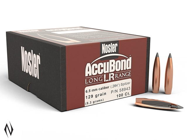 NOSLER 6.5MM 129GR SP ACCUBOND LR 100PK Image