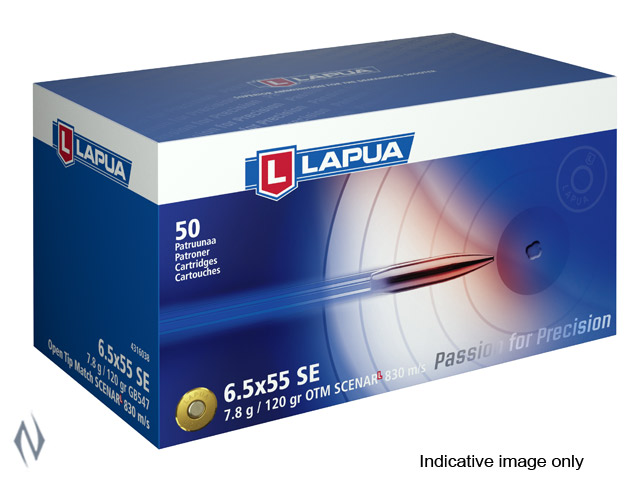LAPUA AMMO 6.5X55 120GR SCENAR L 830 MPS Image