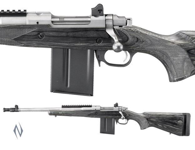"""RUGER 77 GUNSITE SCOUT S/S 308 18"""" FLASH LEFT HAND Image"""