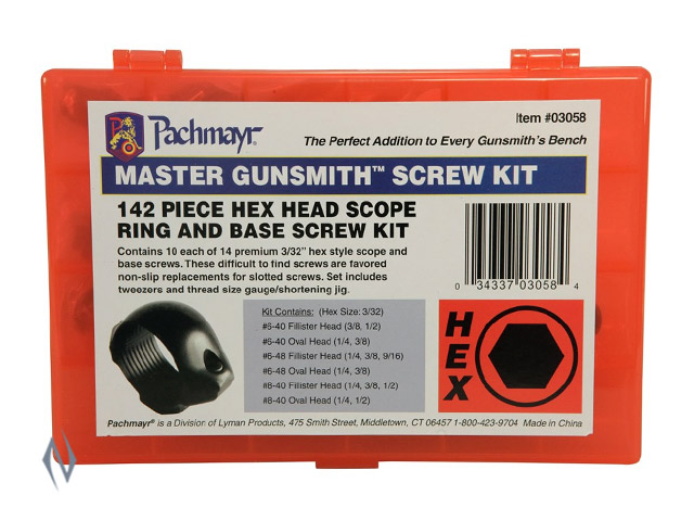 PACHMAYR 142 PIECE GUNSMITH HEX HEAD SCREW KIT Image