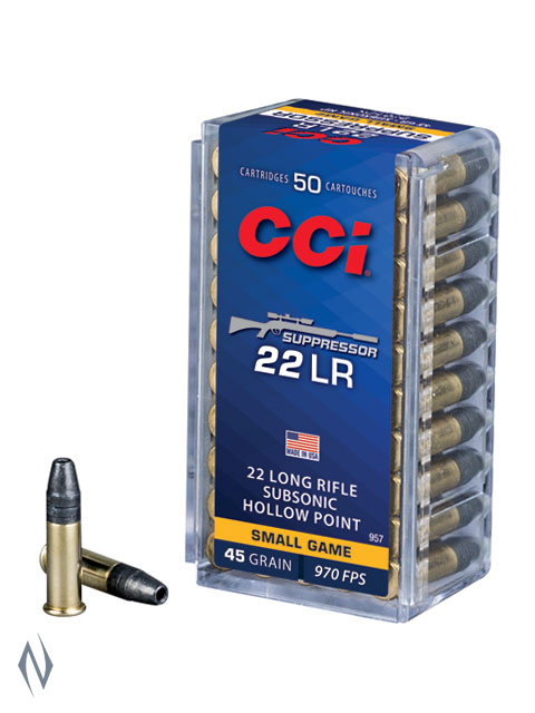 CCI 22LR SUPPRESSOR 45GR HP 970FPS Image