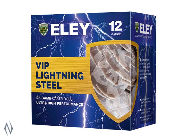"ELEY VIP HP LIGHTNING STEEL 12G 3"" 36GR 2 1410FPS Image"