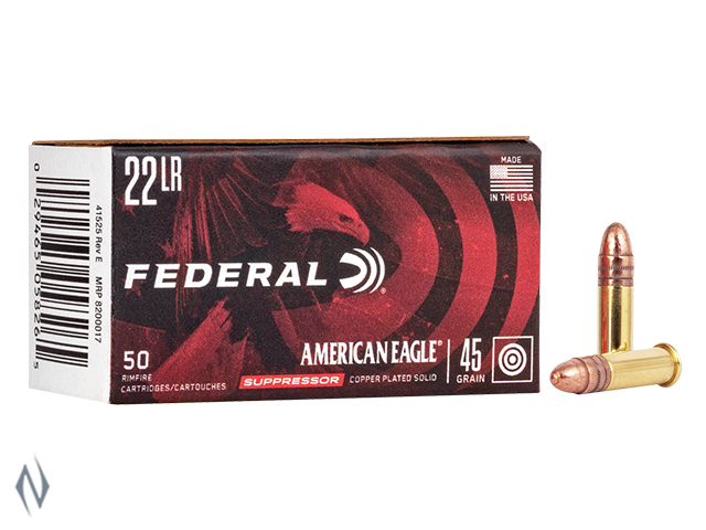 FEDERAL 22LR 45GR SUPPRESSOR AMERICAN EAGLE Image