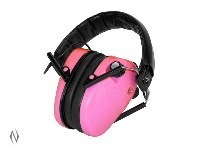 CALDWELL EMAX LOW PROFILE PINK ELECTRONIC EAR MUFFS Image