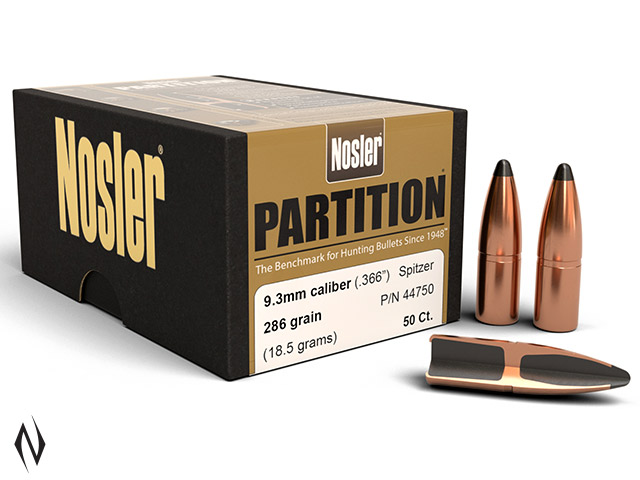 NOSLER 9.3MM 286GR PARTITION 50PK Image