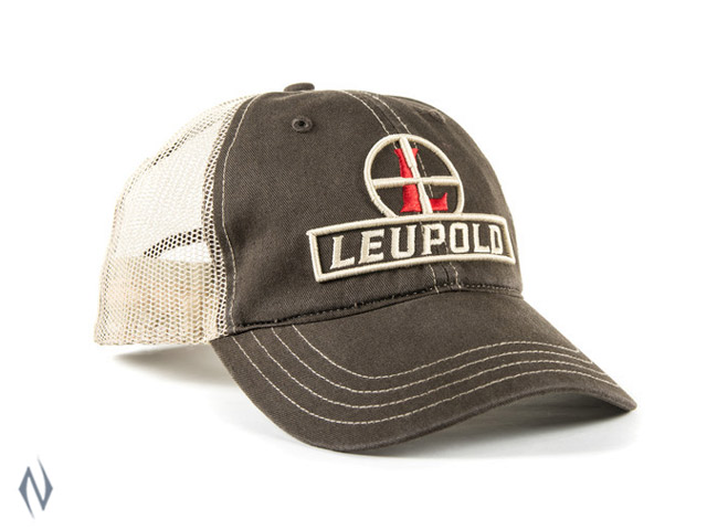 LEUPOLD RETICLE SOFT TRUCKER CAP BROWN / KHAKI OS Image