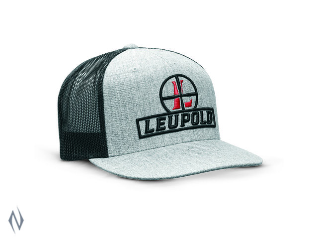 LEUPOLD RETICLE FLAT BRIM TRUCKER CAP HEATHER / BLACK OS Image