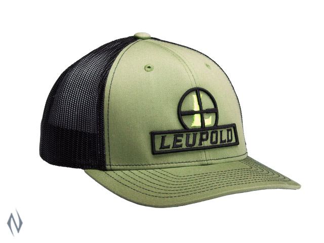 LEUPOLD RETICLE TRUCKER CAP LODEN / WHITE OS Image