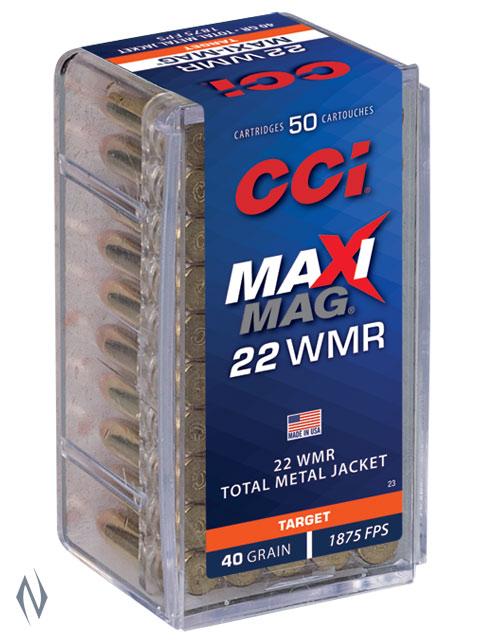 CCI 22WMR MAXI MAG 40GR TMJ 1875FPS Image