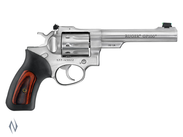 RUGER GP100 22LR STAINLESS 140MM 10 SHOT Image