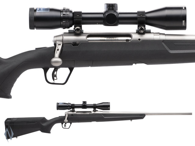 "SAVAGE AXIS II XP STAINLESS PACKAGE 22"" 4 SHOT Image"
