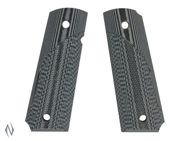 PACHMAYR G10 TACTICAL GRIPS 1911 GREY / BLACK FINE Image