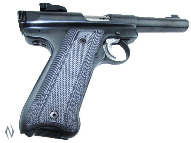 PACHMAYR G10 TACTICAL GRIPS RUGER MKII MKIII GREY / BLACK FINE Image