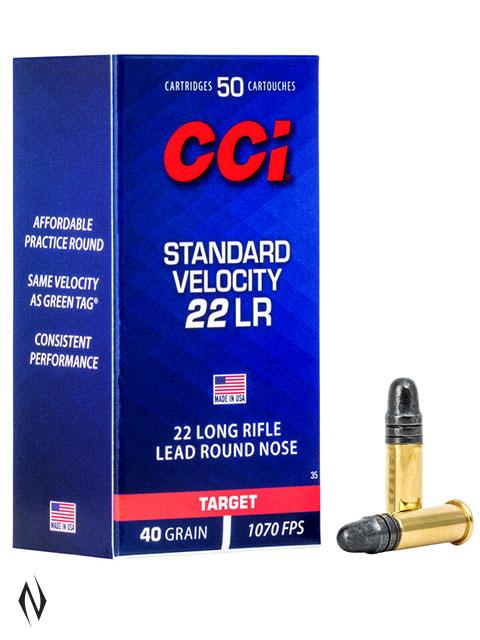 CCI 22LR STANDARD VELOCITY 40GR SOLID 1070FPS Image