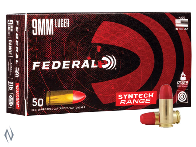 FEDERAL 9MM LUGER 115GR TSJ SYNTECH JACKET AMERICAN EAGLE Image