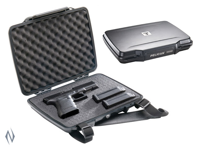 PELICAN 1075 SINGLE HANDGUN HARDBACK CASE BLACK Image