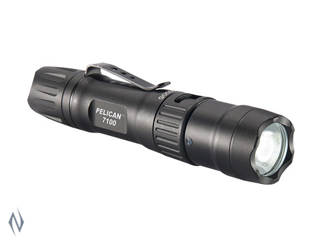 PELICAN TORCH 7100 LED TACTICAL RECHARGEABLE 695 LUM 1 X AA Image