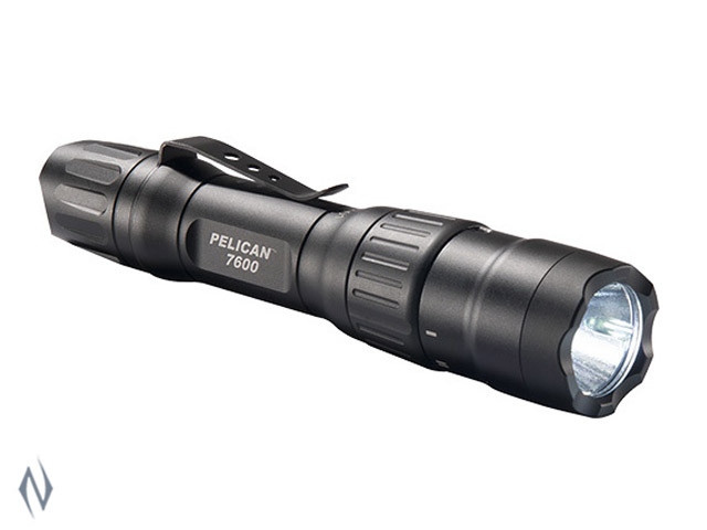 PELICAN TORCH 7600 LED RECHARGEABLE BLACK 944 LUM 2 X CR123 Image