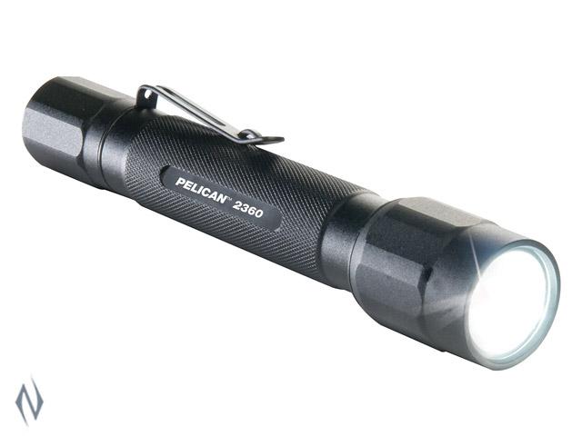 PELICAN TORCH 2360 LED GEN 5 BLACK 375 LUM 2 X AA Image