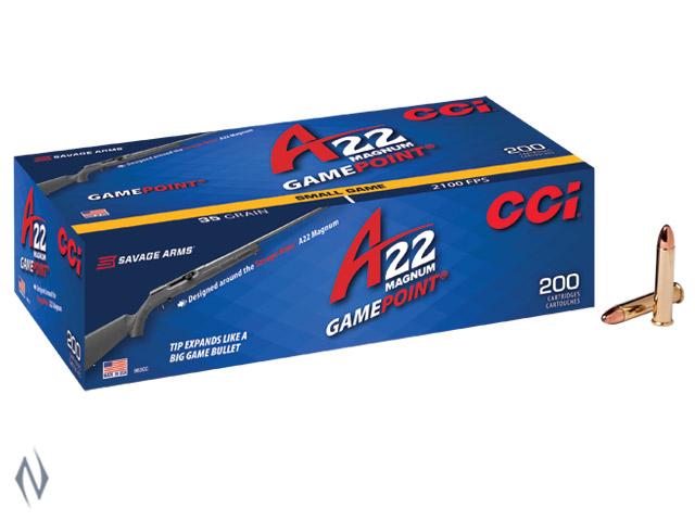 CCI 22WMR GAMEPOINT 35GR A22 2100FPS 200 PK Image