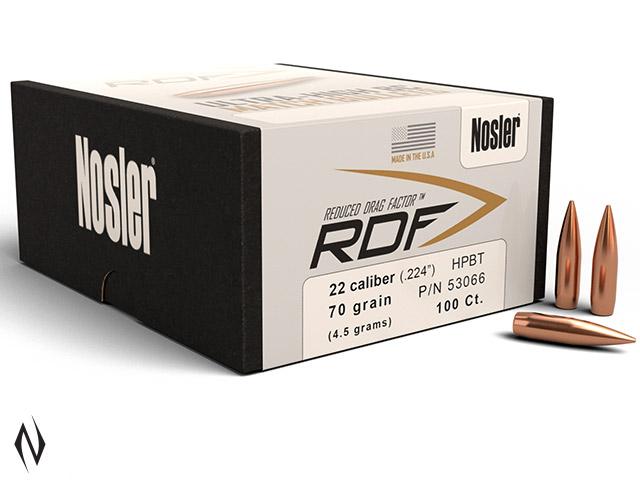 NOSLER RDF 224 70GR HPBT 100PK Image