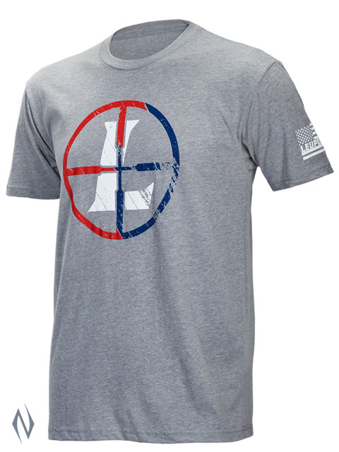 LEUPOLD SS USA RETICLE T-SHIRT GREY HEATHER LGE XXXX Image
