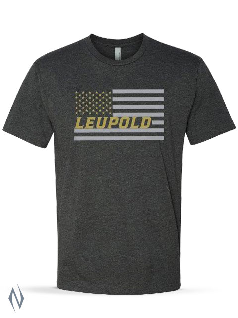 LEUPOLD FLAG T-SHIRT CHARCOAL XL XXXX Image