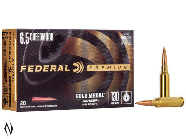 FEDERAL 6.5 CREEDMOOR 130GR BERGER VLD GOLD MEDAL Image
