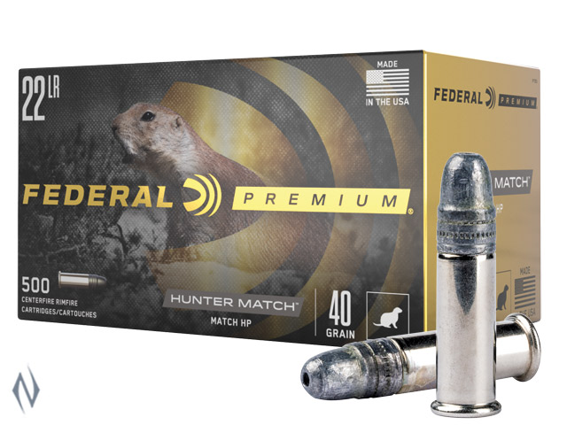 FEDERAL 22LR 40GR HV HP HUNTER MATCH 50PK 1200FPS Image