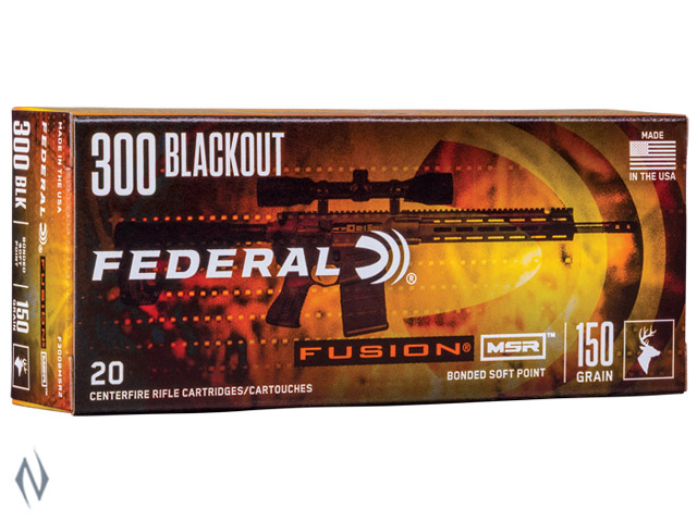 FEDERAL 300AAC BLACKOUT 150GR FUSION MSR Image