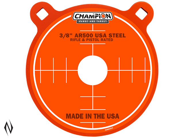 "CHAMPION AR500 CENTREFIRE RIFLE STEEL TARGET 3/8"" GONG 8"" Image"