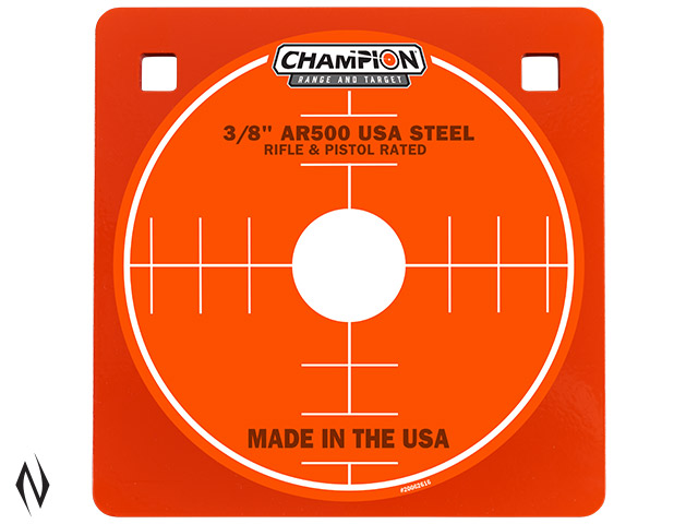 "CHAMPION AR500 CENTREFIRE RIFLE STEEL TARGET 3/8"" SQUARE 8"" Image"