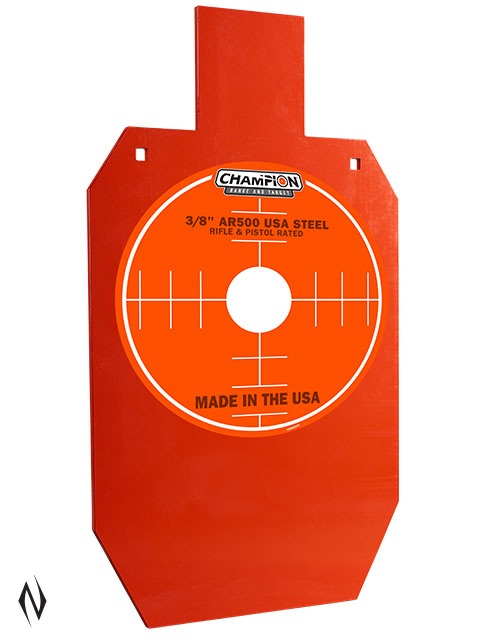 "CHAMPION AR500 CENTREFIRE RIFLE STEEL TARGET 3/8"" FULL SIZE IPSC Image"