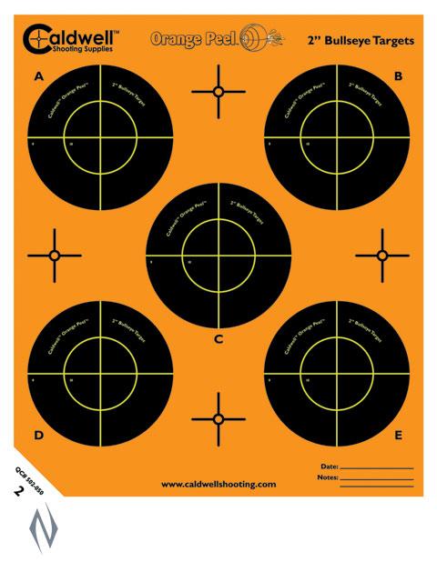 "CALDWELL ORANGE PEEL BULLSEYE 2"" 10 PACK Image"