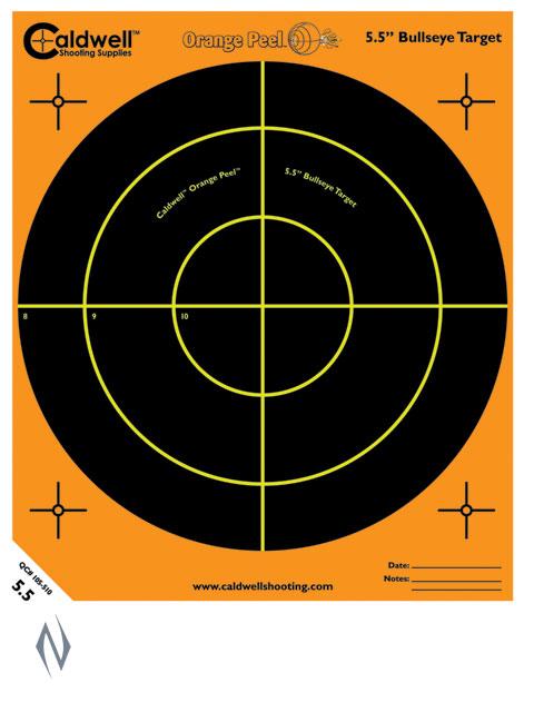 "CALDWELL ORANGE PEEL BULLSEYE 5.5"" 10 PACK Image"