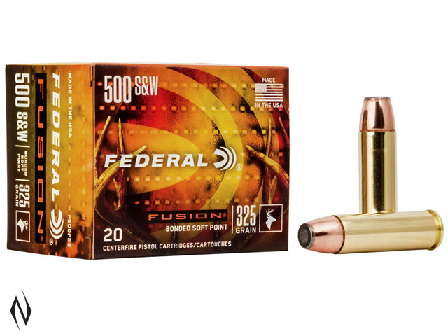 FEDERAL 500 S&W 325GR FUSION Image