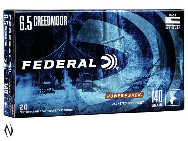 FEDERAL 6.5 CREEDMOOR 140GR SP POWERSHOK Image